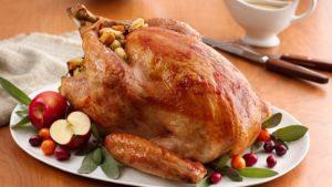 Roast Turkey with Cranberry Sauce Recipe