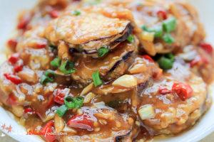 Stuffed Eggplant with Schezwan Sauce Recipe
